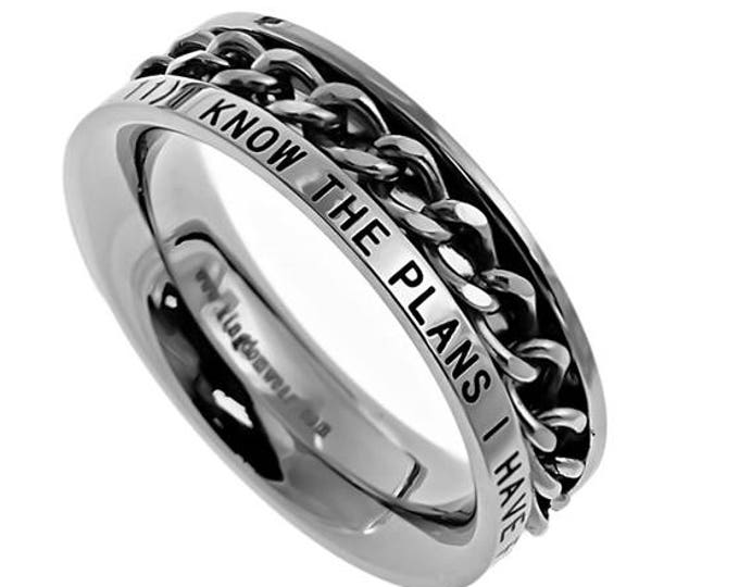 """Single Chain Ring """"I Know"""""""