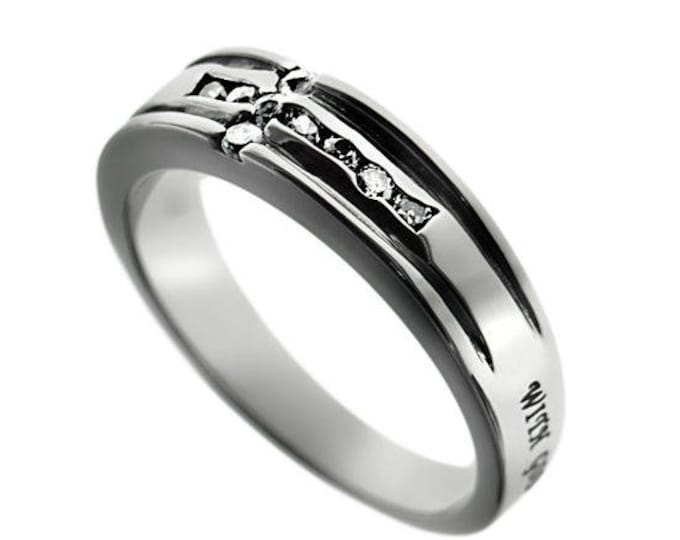 """Ragged Cross Ring """"Possible"""""""