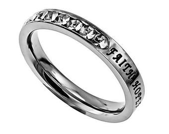 "Princess Ring ""Faith, Hope, Love"""