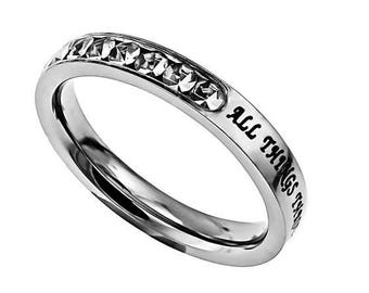"Princess Ring ""Christ My Strength"""