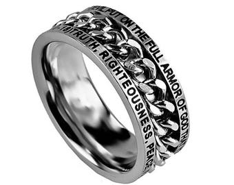 "Chain Ring ""Armor Of God"""
