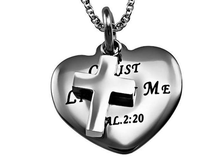 "Sweetheart Necklace ""Christ Lives In Me"""