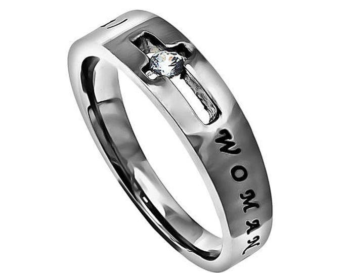 "Solitaire Ring ""Woman Of God"""