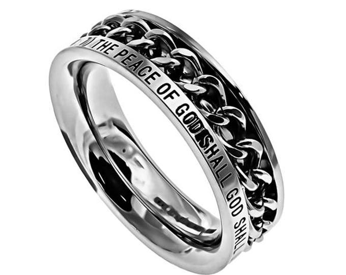 "Single Chain Ring ""No Weapon"""