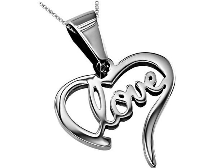 """Heart Necklace """"Love"""""""