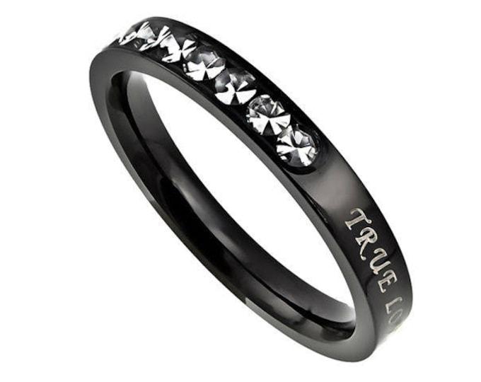 """Ebony Beauty Ring """"True Love Waits"""""""