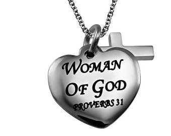 "Sweetheart Necklace ""Woman Of God"""