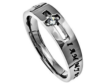 "Solitaire Ring ""I Am My Beloved's"""