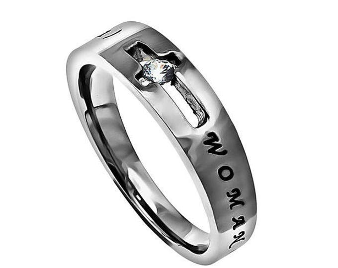 """One Cross Ring """"Woman Of God"""""""