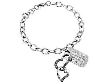 Heart Bracelet/Custom Verse Tag- Women's