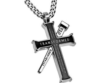 "Established Cross Necklace ""Transformed"""