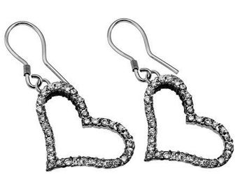 CZ Deluxe Joy Heart Earrings