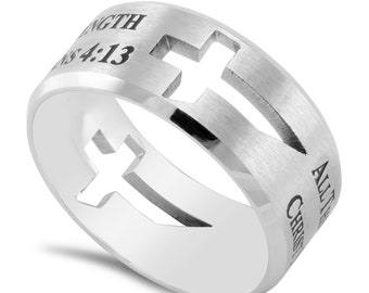 "Dual Cross Band ""His Strength"""