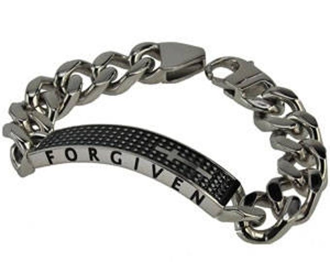 "Armor Cross Bracelet ""Forgiven"""