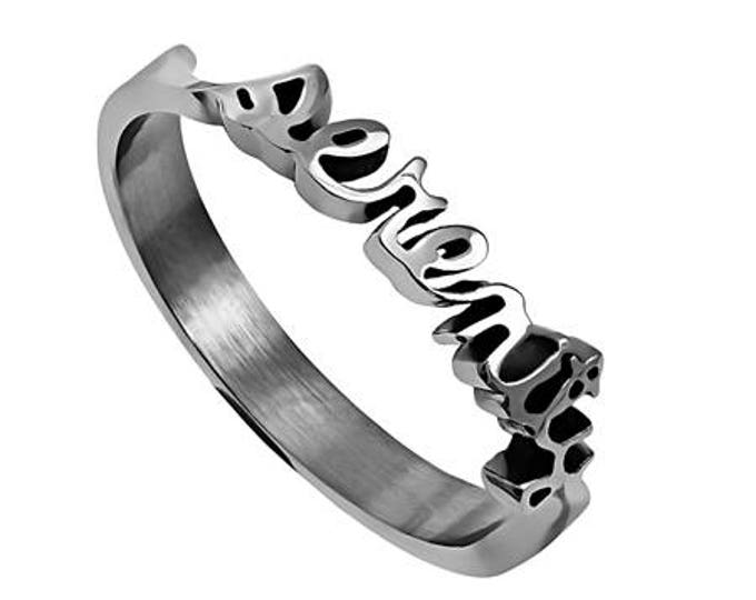 "Hand Writing Ring ""Serenity"""