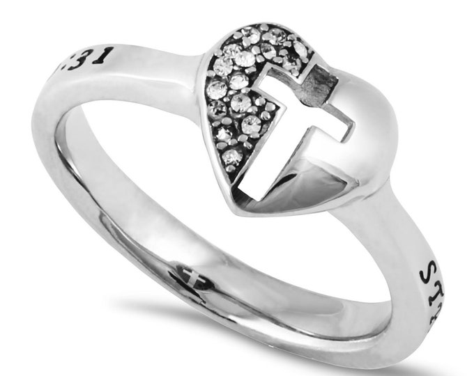 "Mirror Cross Ring ""Strength"""