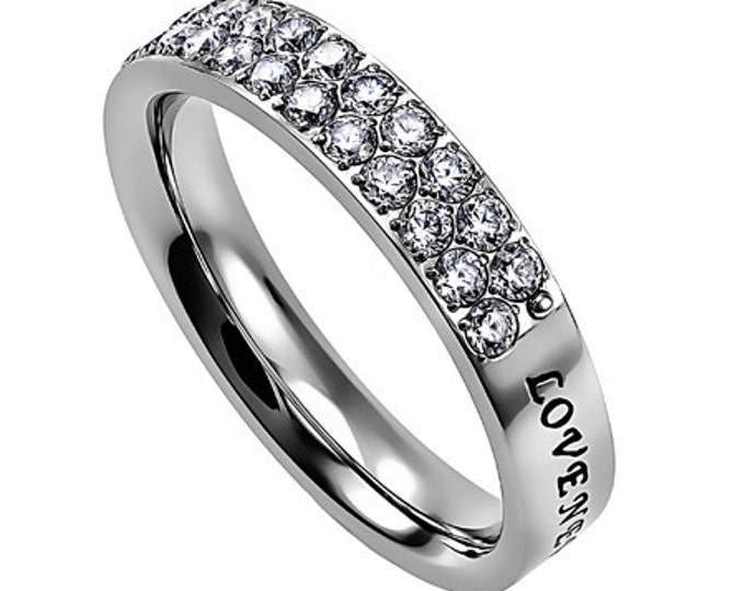 """Quilt Ring """"Love Never Fails"""""""
