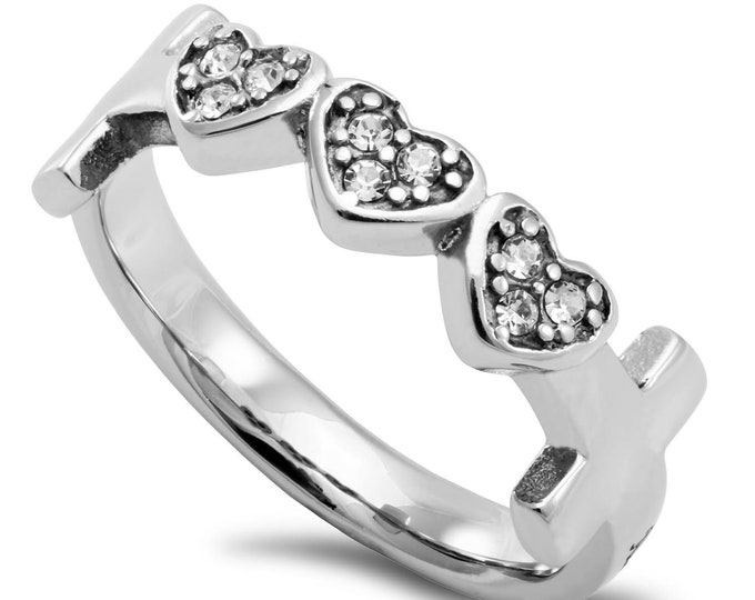 "Three Heart Ring ""Woman Of God"""