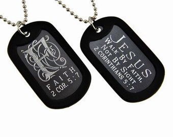 Faith - Dog Tag Necklace