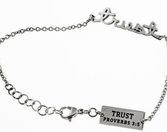 "Handwriting Bracelet ""Trust"""