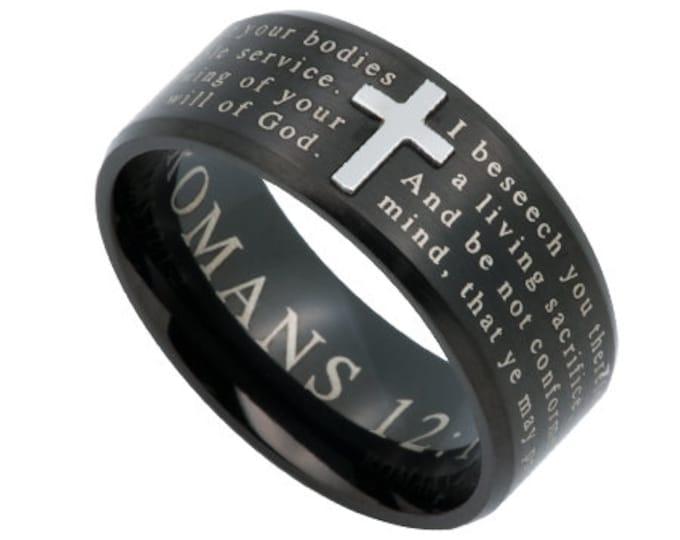 "Logos Ring Black ""Transformed"""