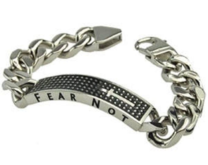 "Shield Cross Bracelet ""Fear Not"""