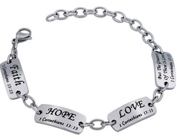 "Identity Bracelet ""Faith Hope Love"""