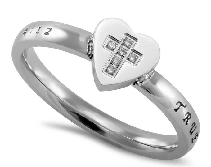 """Heart to Heart Ring """"True Love Waits"""""""