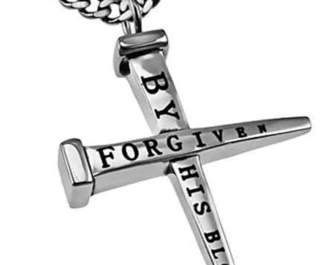 """2 Nail Cross """"Forgiven"""""""