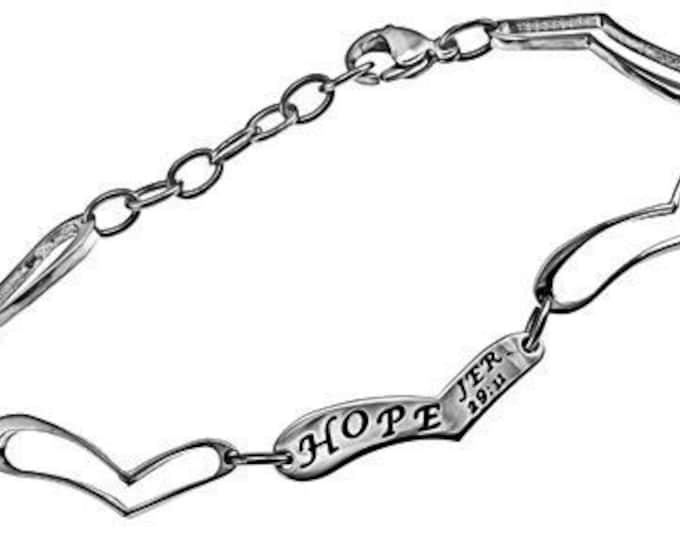 "Heart Link Bracelet ""Hope"""