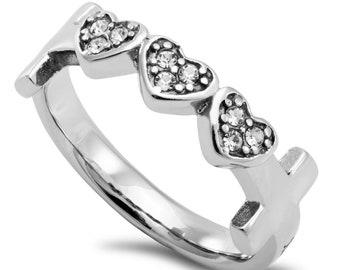 "Three Heart Ring ""Woman Of God"""