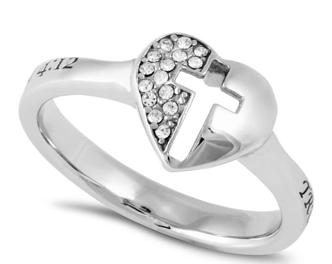 "Padlock Ring ""True Love Waits"""