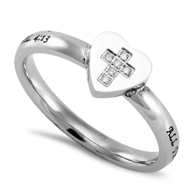 Hear to Heart Ring Christ My Strength image 0