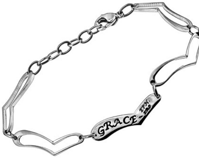 """Heart Link Bracelet """"Grace"""""""