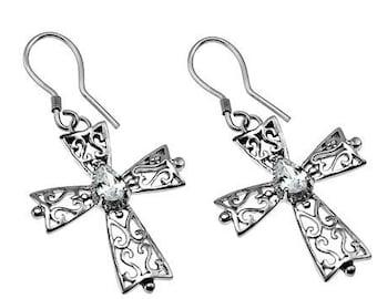 CZ Phillagree Earrings