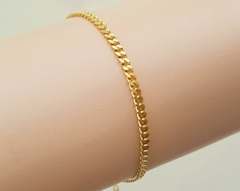 7 inch 18ct gold filled Cuban Curb Chain Bracelet