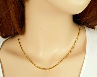 18 inch 18ct gold filled Cuban Curb Chain Necklace ( 2.5mm width )