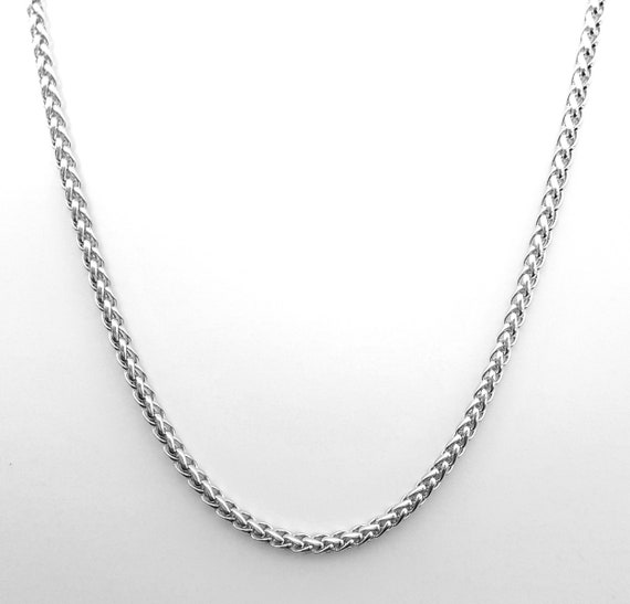 Source 24 inch 18ct Gold Braided Wheat Chain Necklace 2mm thick