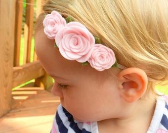 Felt Flower Headband, Baby Headband, baby flower headband, Flower Crown Headband, Flower Headband, Felt Flowers, Baby Accessories
