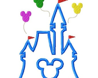 Character Inspired Mouse Castle Embroidery Applique Design Instant Download Digital File