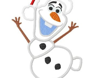 ChristmasInspired Freezing Santa Cold Snowman Applique Embroidery Design