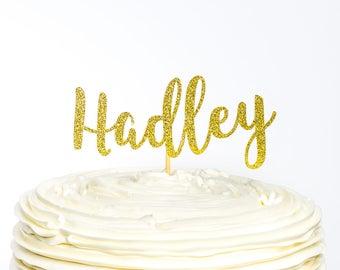 Name cake topper | Etsy