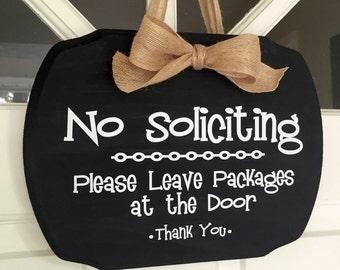 No Soliciting Door Sign, No Soliciting Sign, No Soliciting, Vinyl Sign, Door Sign, Do Not Distrub Sign, Don't Distrub Sign, Door Hanger