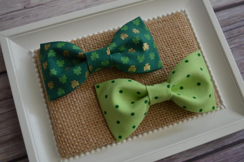 369e3aea0421 Bright Green Polka Dot Boy Bow Tie Bow Ties Bow Accessory   Etsy