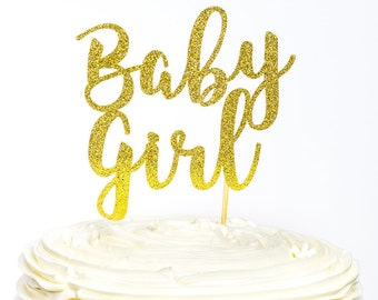 Baby Girl Cake Topper, Baby Girl Topper, Baby Shower Cake Topper, Baby Girl Cake Topper, Baby Cake Topper, Gender Reveal Cake, Baby Shower