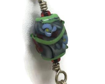 Handmade Glass Flower Bead Pendant