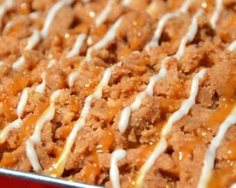 Caramel Crumb Cake, Coffee Cake, Vanilla Cake, Caramel Drizzle Cake, Luxury Cake, NY Crumb Cake, Homemade Cakes, Gourmet Cakes, Caramel Cake