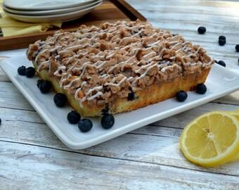 Lemon Blueberry Crumb Cake, NY Crumb Cake, Coffee Cake, Vanilla Cake, Traditional Cake, Luxury Cake, Lemon Drizzle Cake, Gourmet Cakes