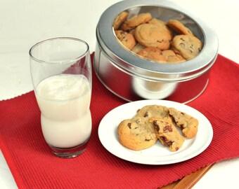 25 Chocolate Chip Cookies, Gourmet Cookies, Luxury Cookies, Kids Party Food,  Homemade Cookies, Sweet Treats, College Care Package