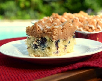 Blueberry Crumb Cake, Gourmet Gifts, Edible Gifts, New York Crumb Cake, Best Food Gifts, Coffee Cake, Homemade Cake,Old Fashioned Crumb Cake